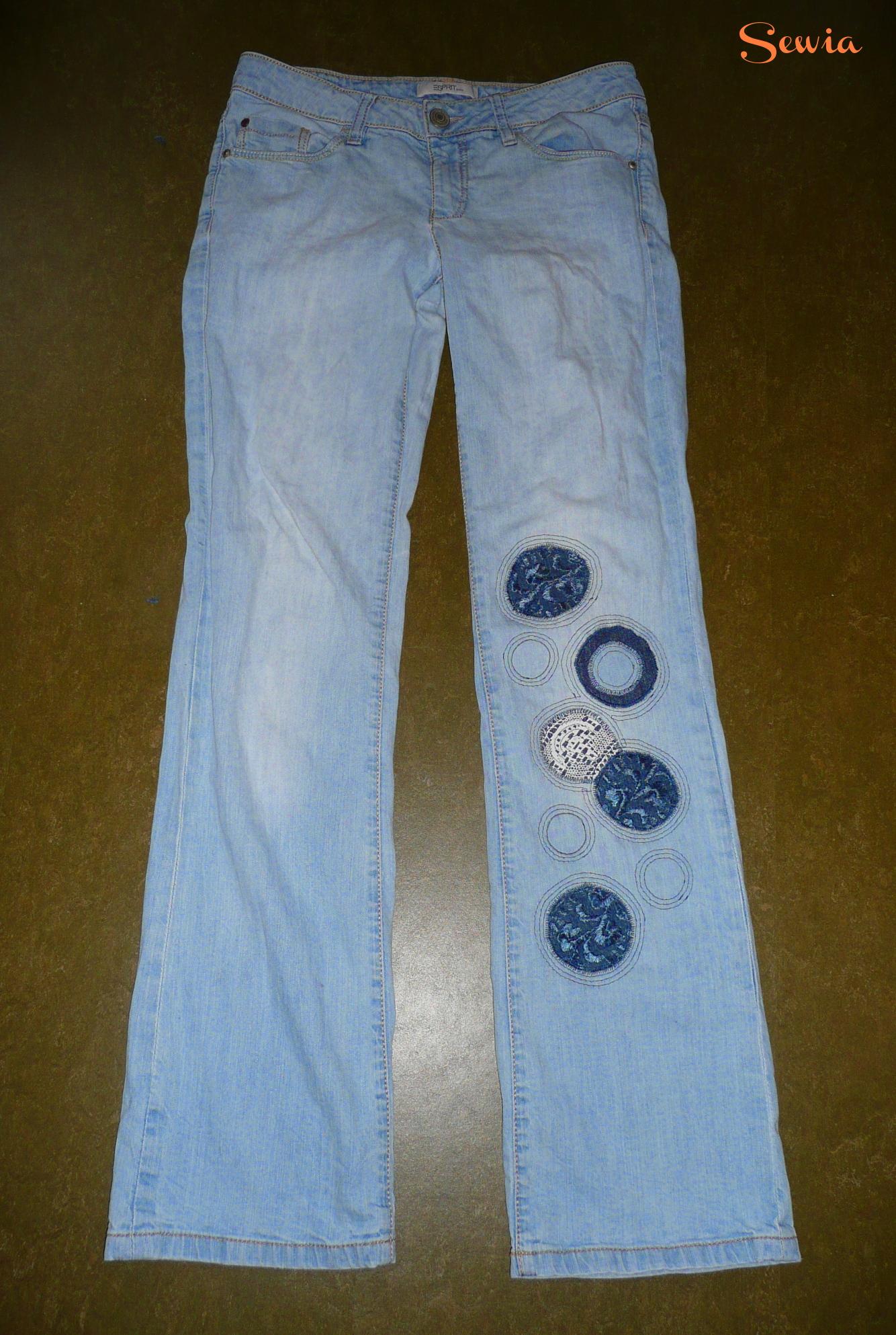 Jeans mit Spitzen verschönern